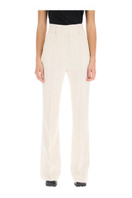 Flare wool trousers