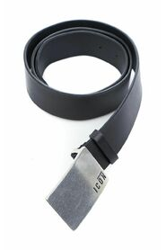 Icon buckled leather belt