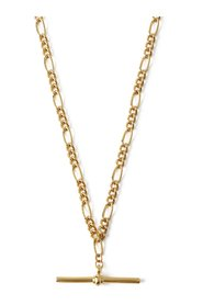 Chunky T Bar Figaro Chain Necklace