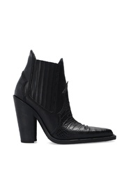 'Western' heeled ankle boots