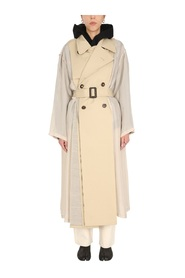 TWO-MATERIAL TRENCHCOAT
