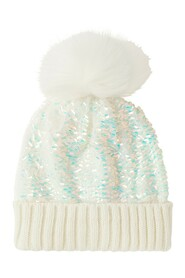 Dolly Sequin Pom Hat