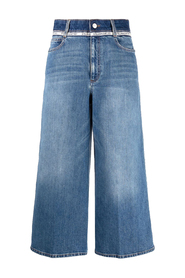 STONE  WASH TAPE TROUSERS
