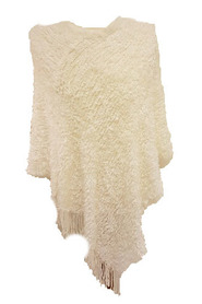 Design By H/ Susanna Design Poncho offwhite