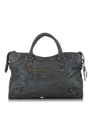 Large Motocross Classic City Leather Satchel
