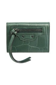 Pre-owned  Classic Mini 640107 Leather Wallet (tri-fold)