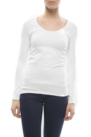 Claesens Ladies T-shirt round neck l/s white