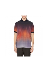 Tie & die rust blue short sleeve polo shirt