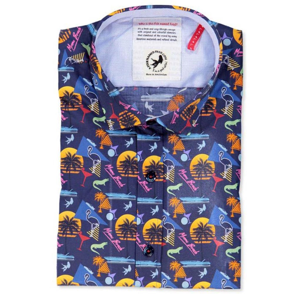 Shirt Miami Fish Navy