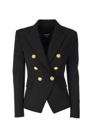 Blazer with gold-tone double-breasted fastening