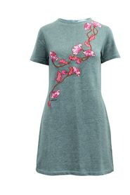 Casual Dress with Embroidery