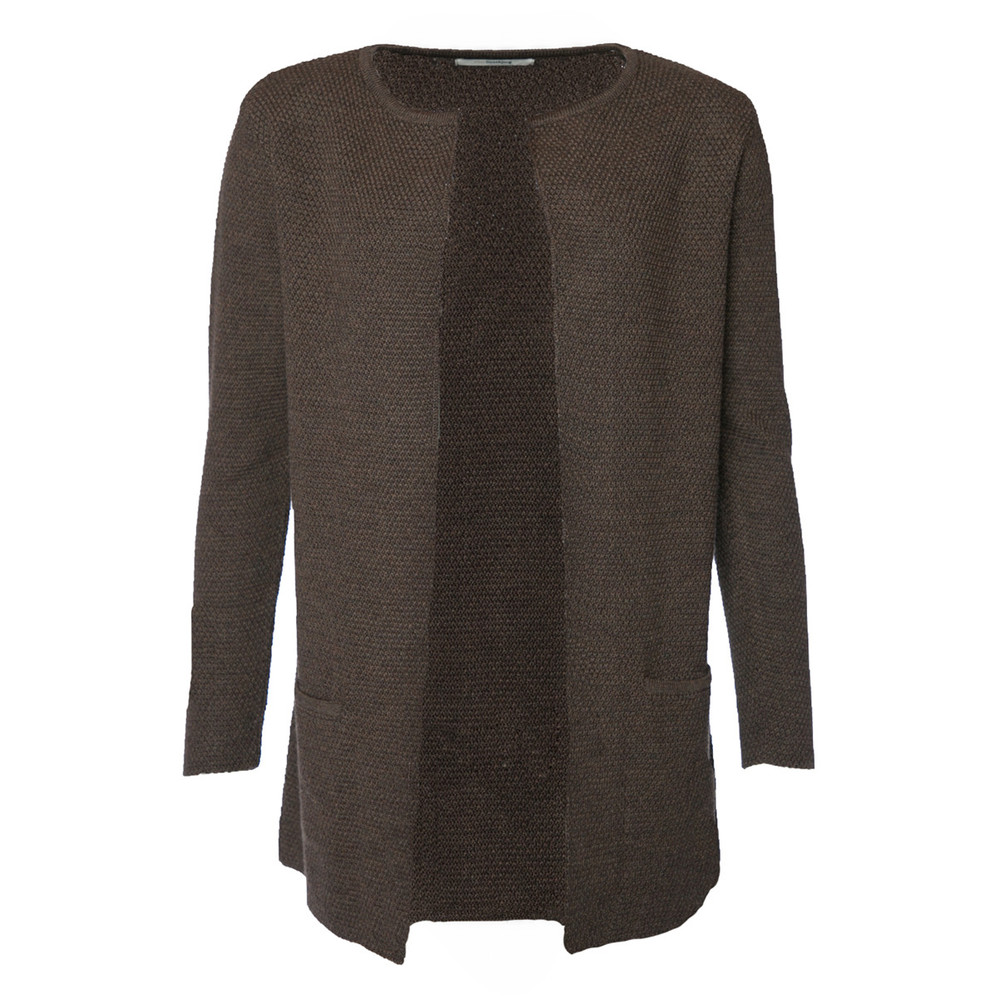 Mary Short brown cardigan - Sibin Linnebjerg