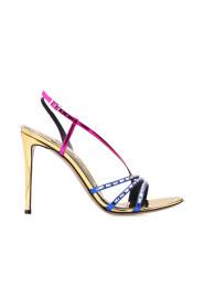 Stiletto-heeled sandals