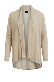Vinelli l/s new knit cardigan frosted almond - Vila