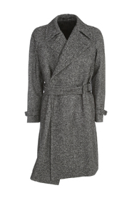 WOOL CROSSED DOUBLE BREASTED COAT