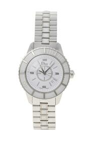 Pre-owned Stainless Steel Christal CD113111 Wristwatch