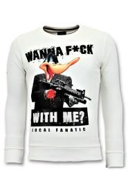 Sweatshirt Shooting Duck Gun