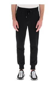 jogging trousers with logo plaque