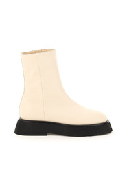 rosa leather ankle boots