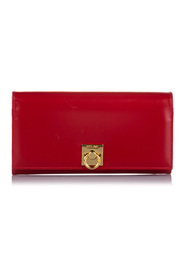 Pre-owned Wallet Leather Calf