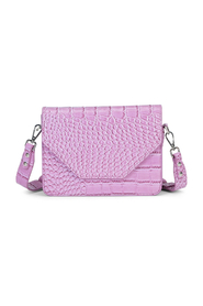 Rosemary Lavender Croco Print Shoulder Bag