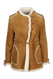 SHEARLING MID COAT