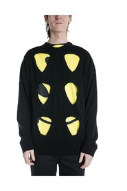 Sweater with Cut Outs and Patches