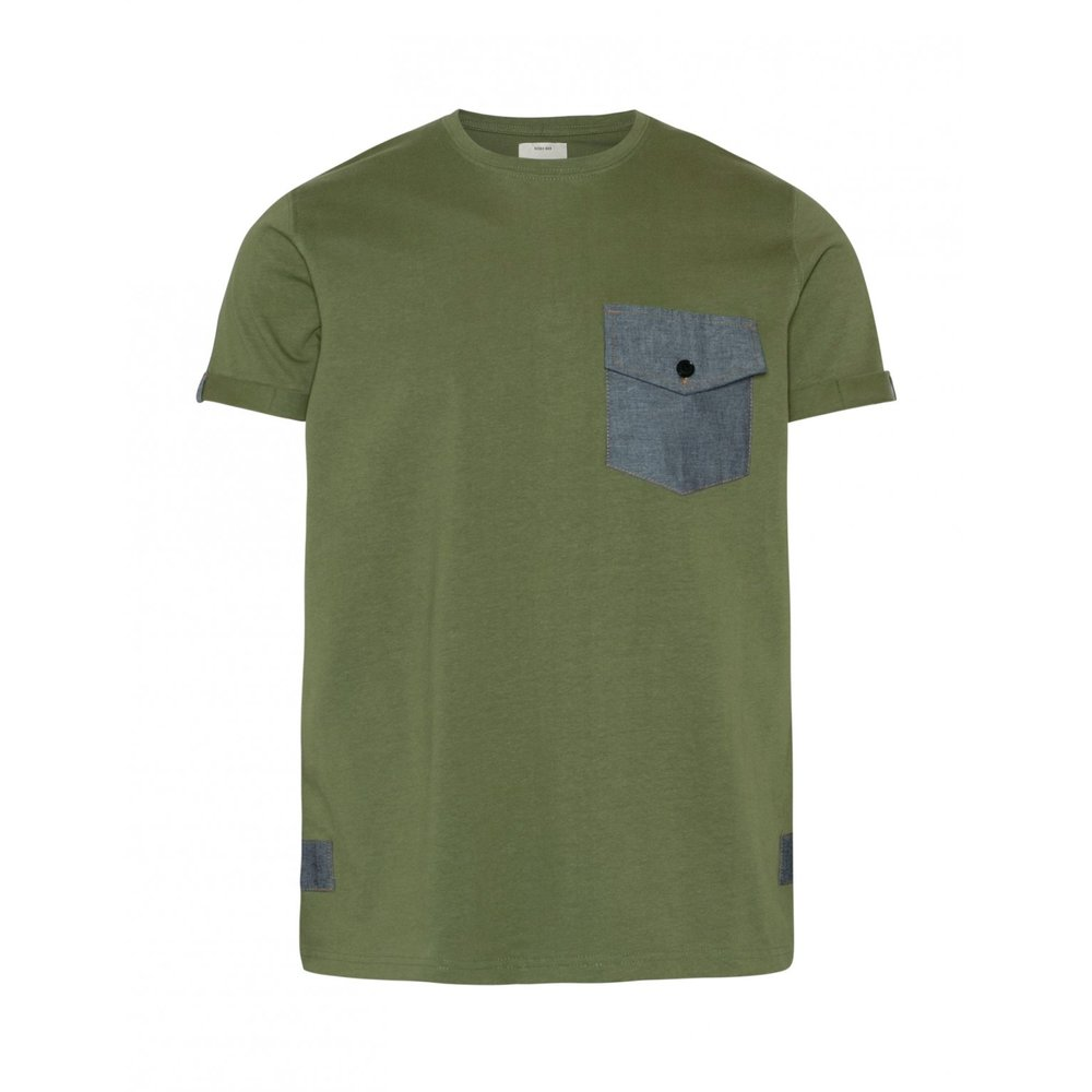 Redefined Rebel THOMAS TEE - T-shirt med print - duck green