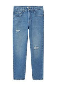 fit decorative rips jeans