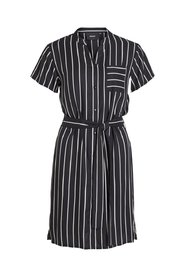 Dress Striped waist tie