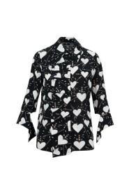Hearts print shirt