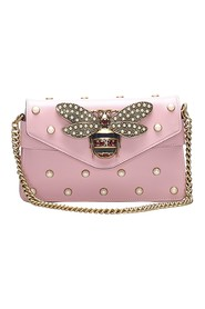 Broadway Pearly Bee Leather Crossbody tas