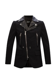 Blazer with biker jacket motif