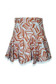Print Mini Skirt -Pre Owned Condition Very Good