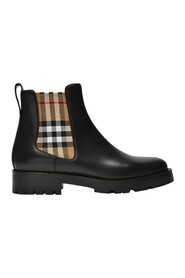 Allostock Check Boots in Leather