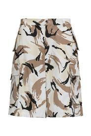 Camouflage Cotton Cargo Shorts