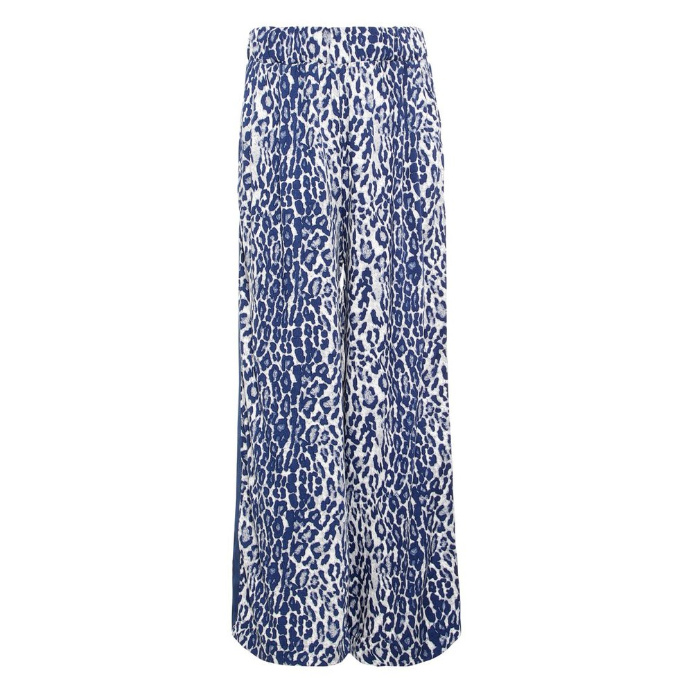 Wide-leg trousers leopard printed