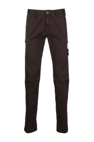 Stretch Broken Twill Cotton Old Effect Slim Fit Cargo Pants
