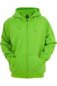 Urban Classics - Urban Fit Zipped Hoody | Lime
