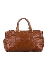 Vitello Shine -taske i læder