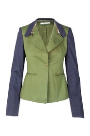 Zipped Collars Jacket
