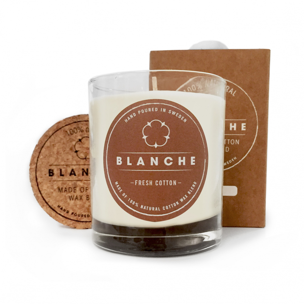 Fresh Cotton, Blanche Candle