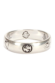 Pre-owned Blind For Love Silver Ring