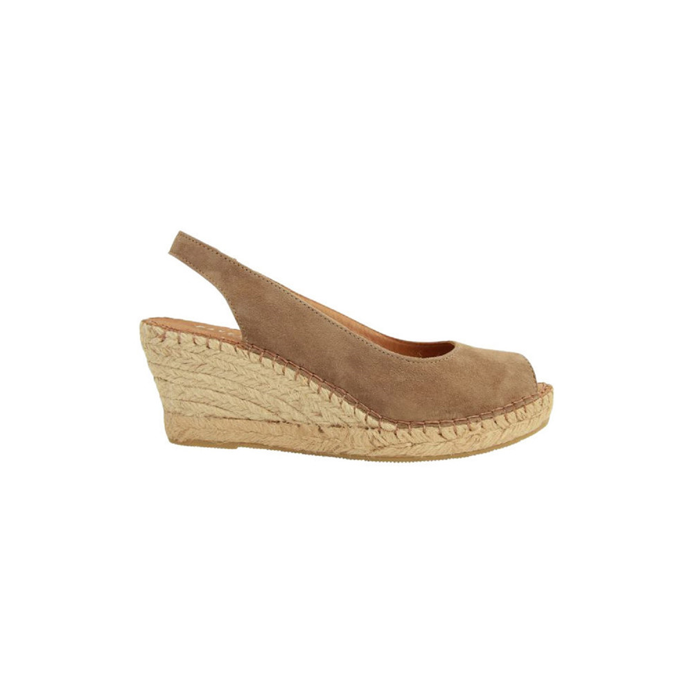 Dot sand suede sandaal