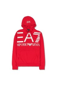 Hoodie with White Logo