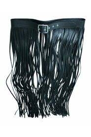 Leather Waistband with Fringes