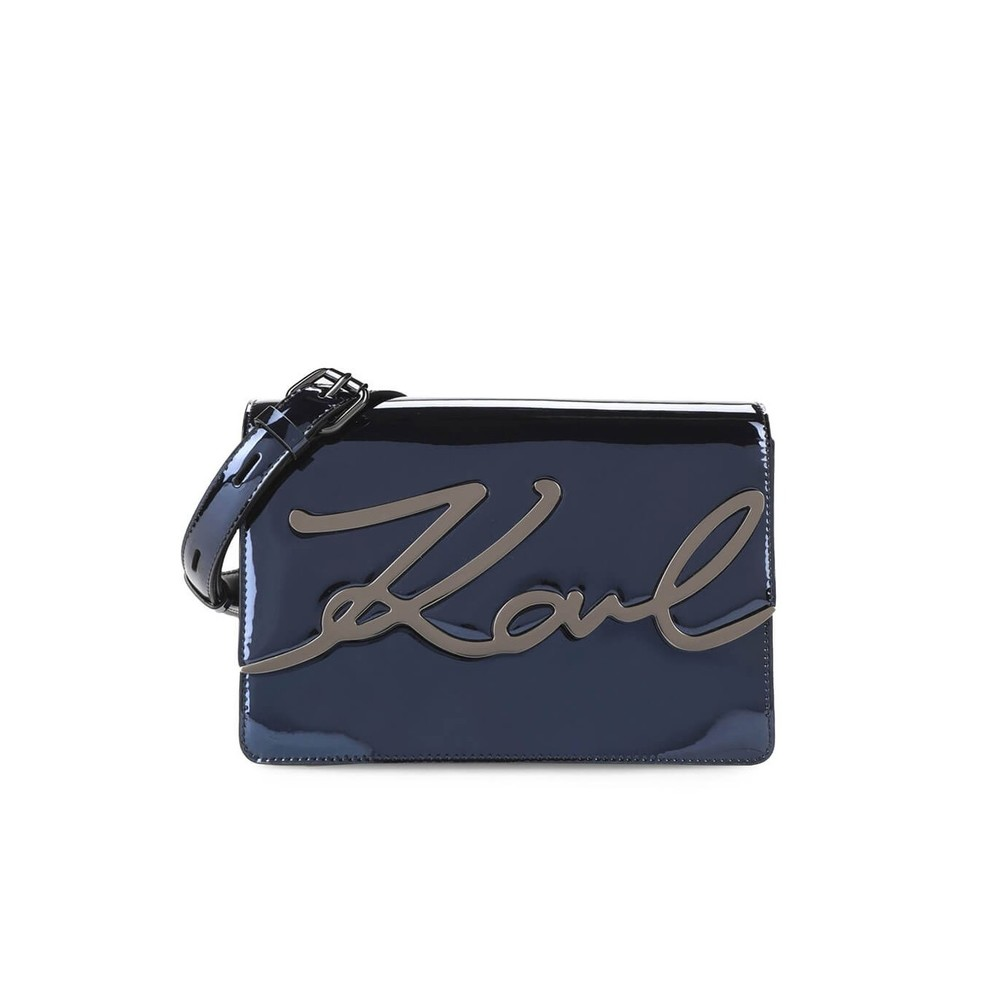 K/SIGNATURE GLOSS CROSSBODY BAG