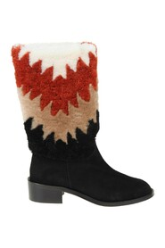 nomade 45 boots in suede and shearling