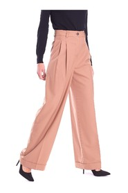PALAZZO TROUSERS WITH PINCES