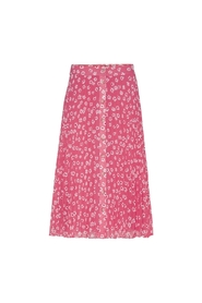 Pleated buttom skirt